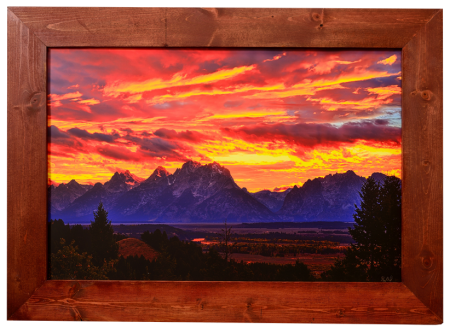Fire in the Teton Sky Framed