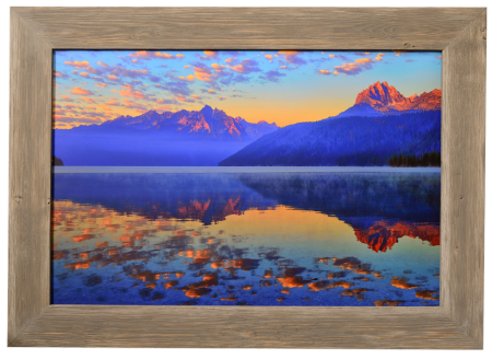 Redfish Lake Custom Framed Barnwood