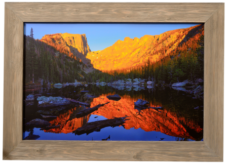Dream Lake Custom Framed Barnwood