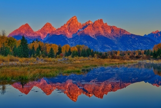 Morning Glow at Schwabacher Landing
