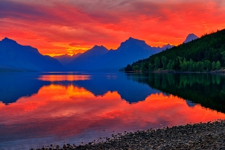 Lake McDonald Fiery Sunrise