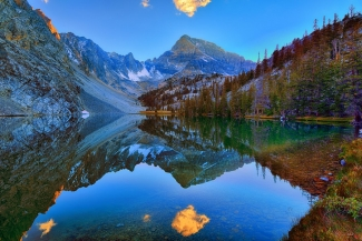 Merriam Lake Evening Mirror