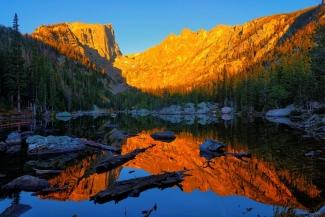 Dream Lake Morning Reflections