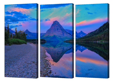 Dawn at Two Medicine Triptych