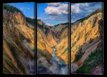 Yellowstone Canyon Triptych