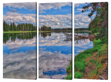 Yellowstone River Reflections Triptych