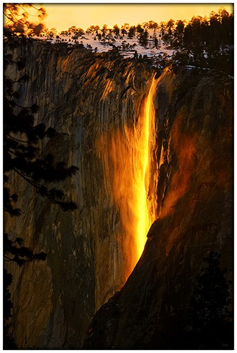 Yosemite FireFall in Yosemite National Park
