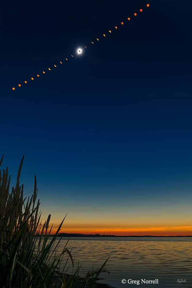 2017 Great American Eclipse over Mud Lake Idaho