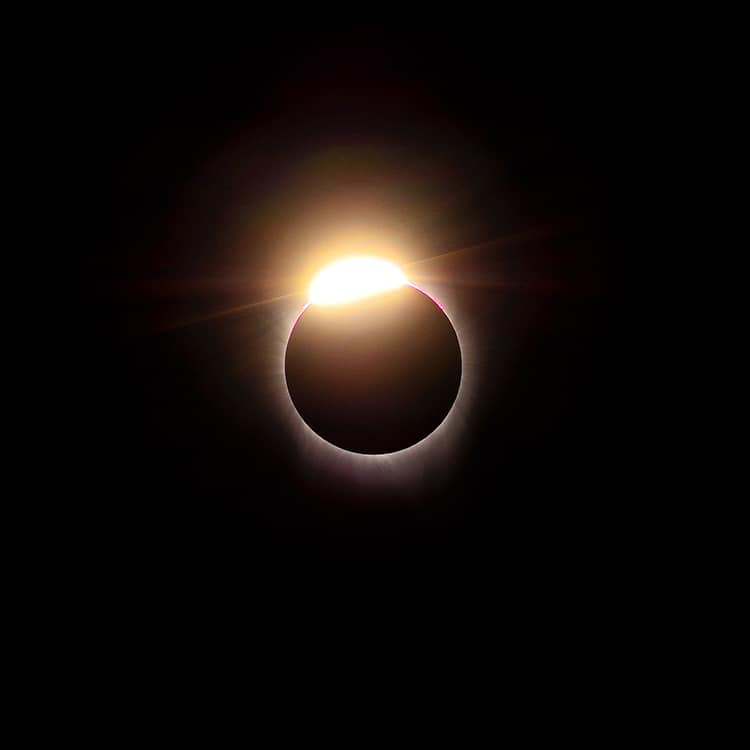 Total Solar Eclipse Diamond Ring Phase