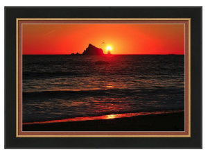Rialto Beach Sunset Framed Print